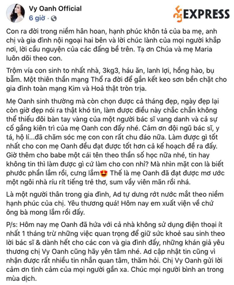 phia-vy-oanh-chinh-thuc-len-tieng-ve-thoi-gian-sinh-con-dai-12-thang-35express